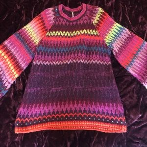 Free People multicolored sweater